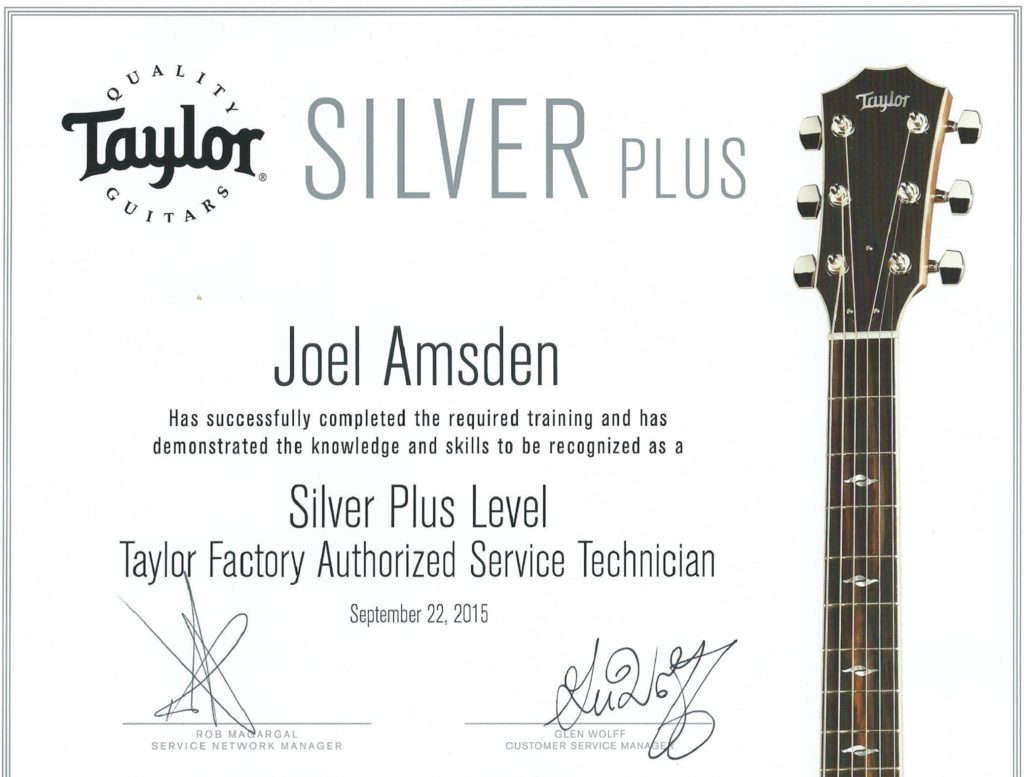 Taylor Certified Technician - Kennebec Instrument and Amplifier - Augusta, Maine