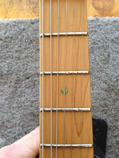 Extreme Fret Wear - Fret Repair - Kennebec Instrument and Amplifier